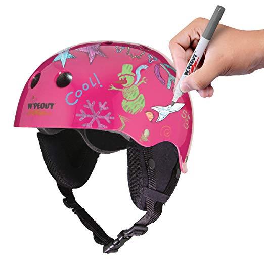 Wipeout Dry Erase Cheap Girls Ski Helmets
