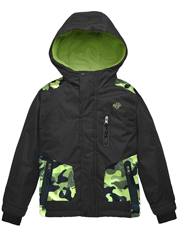 Wantdo Boy's Hooded Waterproof Ski Jacket - Under $100