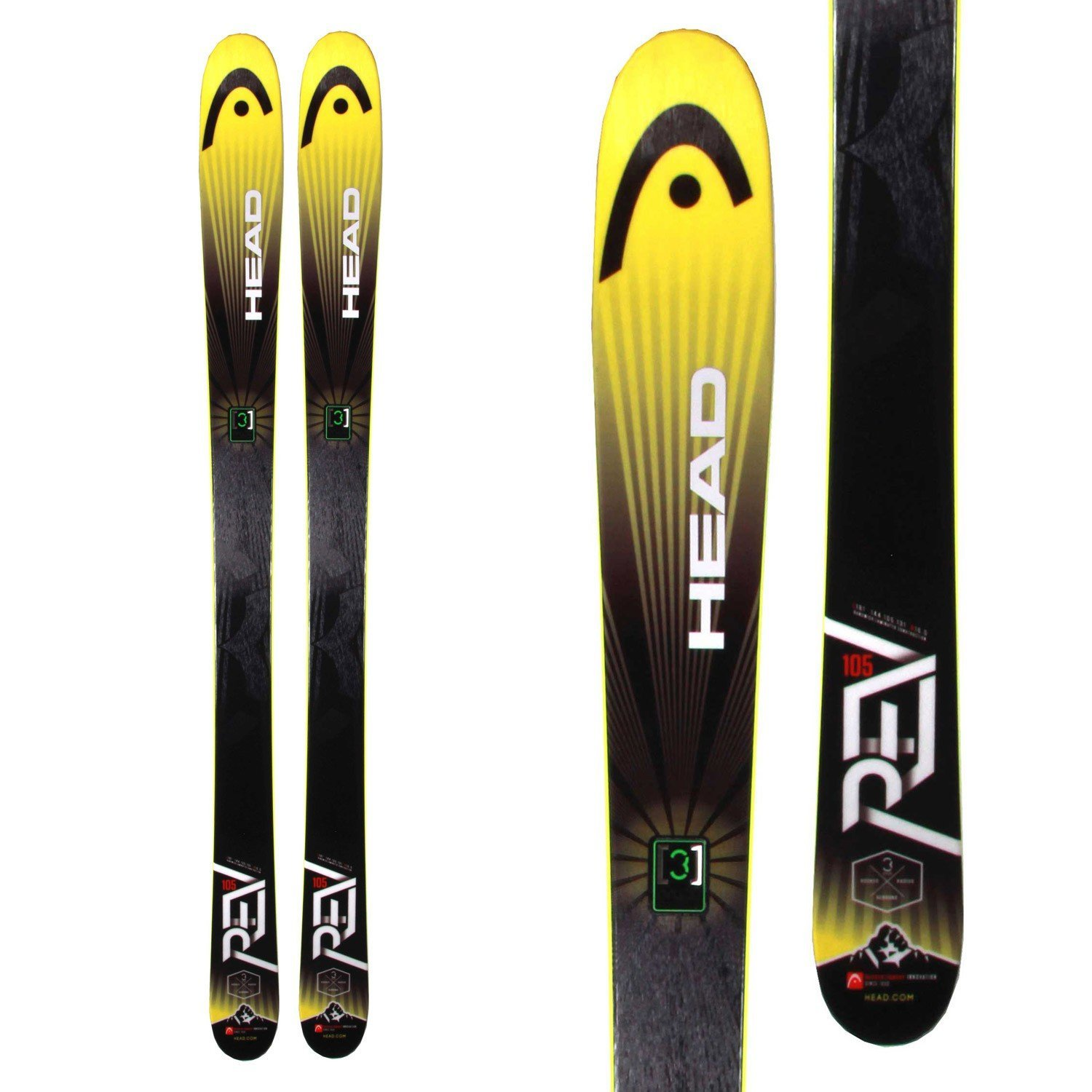 Rev 105 Best Cheap Head Skis