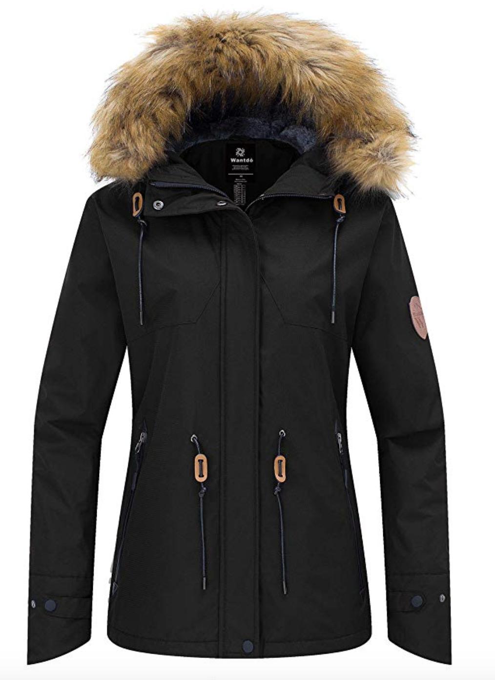 Wantdo Women's Waterproof Ski/Snowboard Jacket Under $150