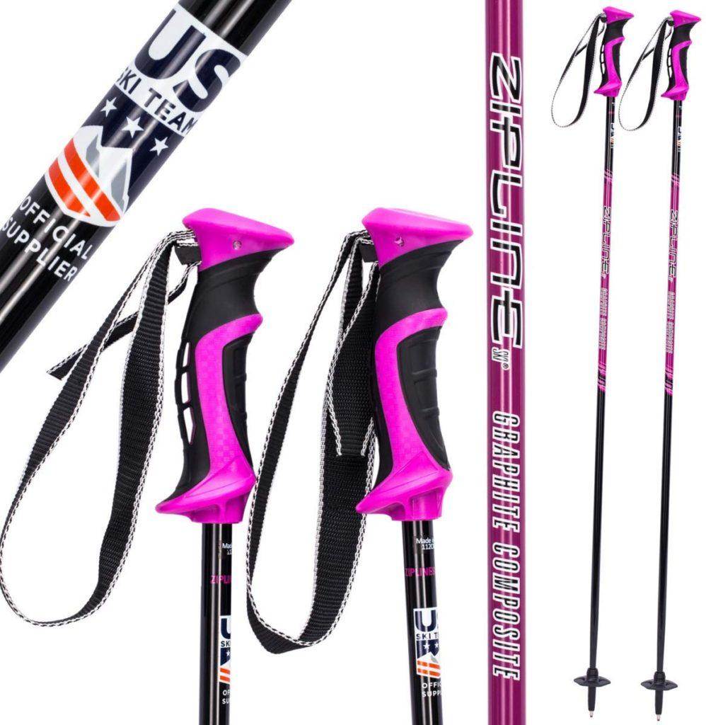 Zipline Graphite Composite Adult Ski Poles
