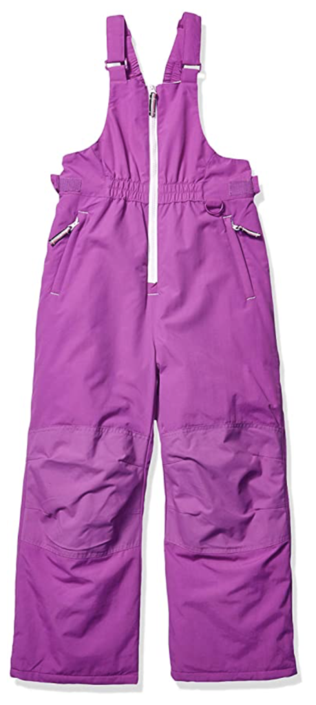 Amazon Essentials Girls' Water-Resistant Snow Bib and Overalls Under $100